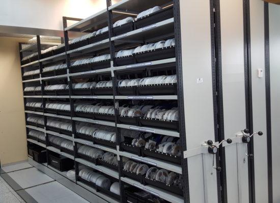Coil storage cabinet