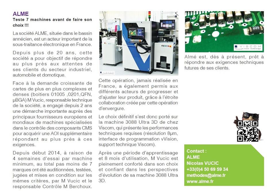 Article published in the press, les cahiers de l'industrie électronique et numérique.